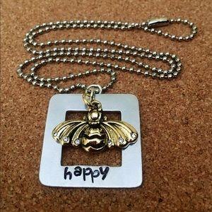 """Bee"" Happy!  Necklace"